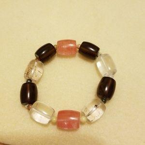 Jewelry - Natural gemstone bracelet on stretch cord